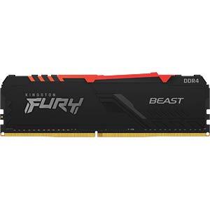 40KI0826-1016BR - 8 GB DDR4 2666 CL16 Kingston FURY Beast RGB
