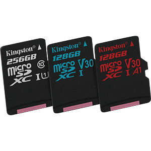 32-GB MicroSDHC memory card, Canvas Select KINGSTON SDCS/32GB