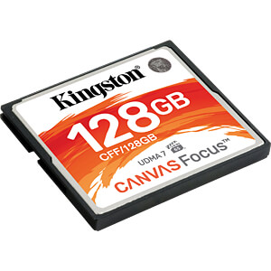 CF-Speicherkarte 128GB, Canvas Focus KINGSTON CFF/128GB