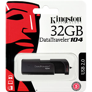USB stick, USB 2.0, 32 GB, DataTraveler 104 KINGSTON DT104/32GB