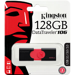 USB-Stick, USB 3.0, 128 GB, DataTraveler 106 KINGSTON DT106/128GB