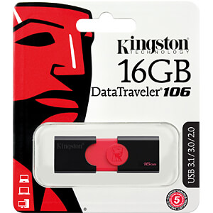 USB-Stick, USB 3.0, 16 GB, DataTraveler 106 KINGSTON DT106/16GB
