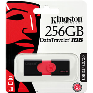 USB-Stick, USB 3.0, 256 GB, DataTraveler 106 KINGSTON DT106/256GB