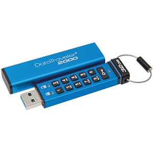 USB-Stick, USB 3.0, 32 GB, DataTraveller 2000 KINGSTON DT2000/32GB