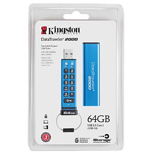 64GB - USB 3.0 - DataTraveller 2000 KINGSTON DT2000/64GB