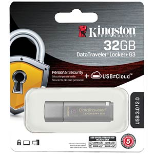 DataTraveler Locker+ G3 USB 3.0 stick, 32 GB KINGSTON DTLPG3/32GB