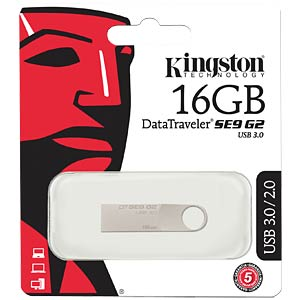 USB-Stick, USB 3.0, 16 GB, DataTraveler SE9 G2 KINGSTON DTSE9G2/16GB