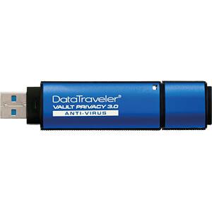 USB-stick, USB 3.0, 16 GB, DataTraveler Vault Privacy AV KINGSTON DTVP30AV/16GB