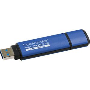 USB-stick, USB 3.0, 64 GB, DataTraveler Vault Privacy AV KINGSTON DTVP30AV/64GB