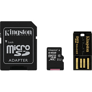 MicroSDXC-Speicherkarte 64GB - Kingston Multi-Kit KINGSTON MBLY10G2/64GB