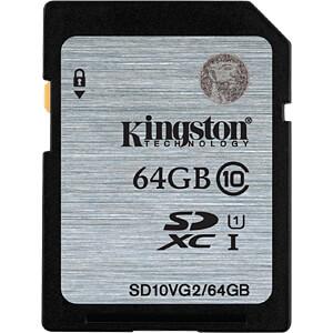 SDXC-Speicherkarte 64GB, Kingston Class 10 KINGSTON SD10VG2/64GB