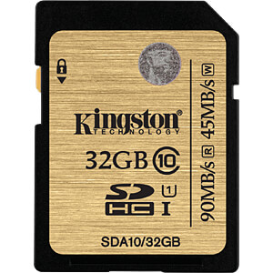 SDHC-Speicherkarte 32GB, Kingston Class 10 KINGSTON SDA10/32GB