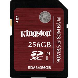 SDXC-Speicherkarte 256GB, Kingston Class 3 KINGSTON SDA3/256GB