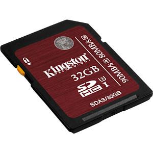SDHC-Speicherkarte 32GB, Kingston Class 3 KINGSTON SDA3/32GB