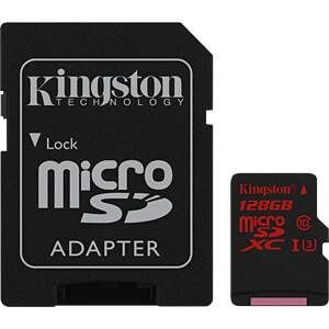 MicroSDXC-Speicherkarte 128GB - Kingston Class U3 KINGSTON SDCA3/128GB