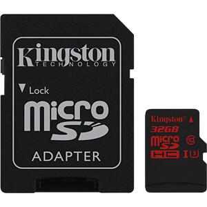 MicroSDHC-kaart 32GB - Kingston Class U3 KINGSTON SDCA3/32GB