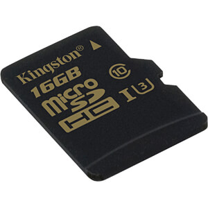 MicroSDHC-Speicherkarte 16GB - Kingston Gold - Class U3 KINGSTON SDCG/16GBSP