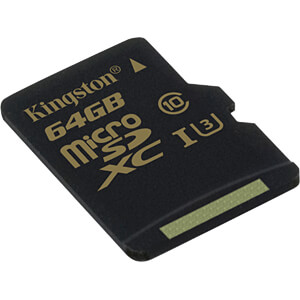 MicroSDXC-Speicherkarte 64GB - Kingston Gold - Class U3 KINGSTON SDCG/64GBSP