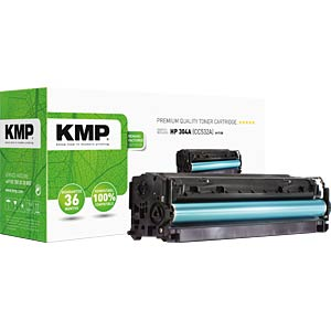 KMP 1218,0009 - Toner - HP - gelb - 304A - rebuilt