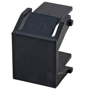 RJ45 Blind Inserts, black RAL9011, for keystone holes EFB-ELEKTRONIK 38018.2-100