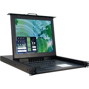 17-inch LCD KVM console with keyboard INTER-TECH 88887027