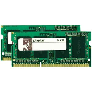 16 GB SO DDR3 1333 CL9 Kingston 2er Kit KINGSTON KVR13S9K2/16