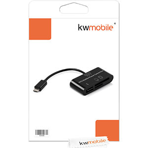 Tablet-Zubehör, 3in1 OTG Card Reader, Micro USB KWMOBILE 15080