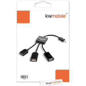 Tabletaccessoires, 3-in-1 OTG micro USB-hubadapter KWMOBILE 21347.01