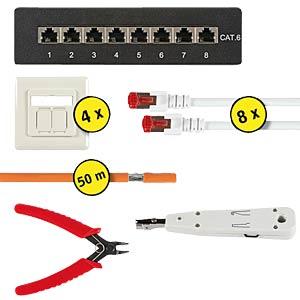 House/office Cat.6 installation set 03 - 50metres EFB-ELEKTRONIK N10002.V1-50