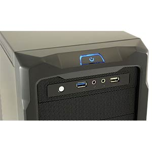 Miditower schwarz, 2x USB, Audio LC POWER PRO-923B