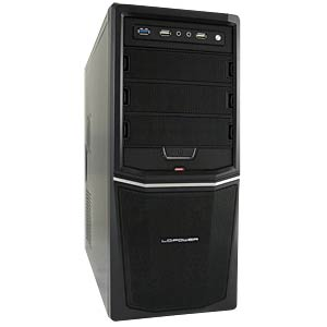 Miditower schwarz, 3x USB, Audio, 420 Watt LC POWER PRO-924B