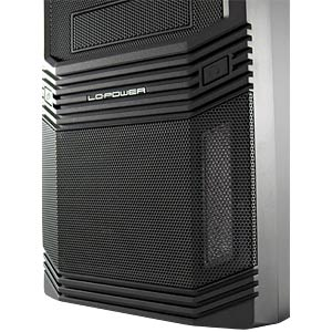 Midi tower, black, 3 x USB, audio, 600 watt LC POWER PRO-925B
