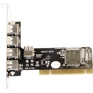 USB-Controller 2.0, 4+1-Port, PCI LONGSHINE LCS-6080