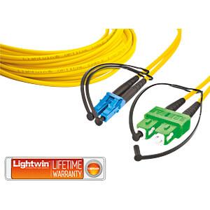 Duplex fibre optic patch cable, SM OS2, LC - SC/APC, 1.0 m LIGHTWIN LDP-09 LC-SC/APC 1.0