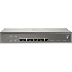 Switch, 8-Port, Fast Ethernet, PoE LEVELONE FEP-0811