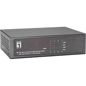 Switch, 8-Port, Fast Ethernet, PoE LEVELONE FEP-0812