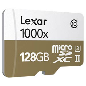 microSDXC-Karte 128GB - Lexar - UHS-II LEXAR LSDMI128CBEU1000R