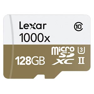 microSDXC-Card 128GB - Lexar - UHS-II LEXAR LSDMI128CBEU1000R