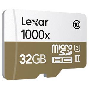 microSDHC-Karte 32GB - Lexar - UHS-II LEXAR LSDMI32GCBEU1000R