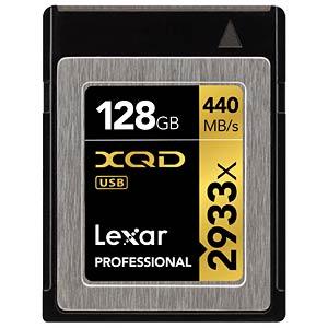 XQD Card 128 GB - Lexar Professional 2933x LEXAR LXQD128CRBEU2933