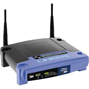 WLAN Accesspoint Router w/ 4Port Switch LINKSYS WRT54GL-DE