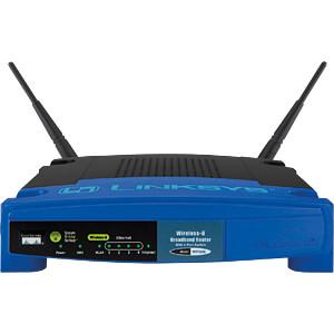 WLAN Wireless Router 2.4 GHz 54 MBit/s LINKSYS WRT54GL-EU