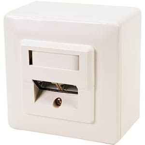 Surface-mounted/flush-mounted box, CAT5e, fully shielded, RAL900 LOGILINK NP0035A