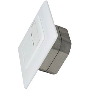 Surface-mounted/flush-mounted box, CAT6, fully shielded, RAL9010 LOGILINK NP0039A