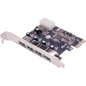 USB controller 3.0, 4-port, PCI express card LOGILINK PC0057A