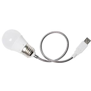 Flexible Notebook-Lampe mit LEDs, USB LOGILINK UA0220