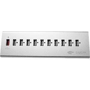 ALUMINIUM USB 2.0 HUB 10+1 Fast Charging P. LOGILINK UA0226