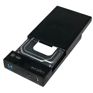 externes 3.5 SATA HDD Gehäuse, USB 3.0 LOGILINK UA0276