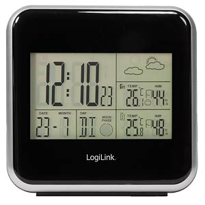 Wireless weather station with DCF radio-controlled clock LOGILINK WS0001