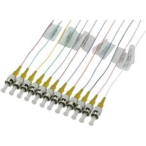 Faserpigtail ST,12 Pigtails,ST OS1/OS2 09/125µ FIBREFAB ST09B2E-12/1B
